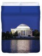 Jefferson Memorial Dusk Duvet Cover