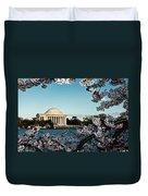 Jefferson Memorial In Spring Duvet Cover