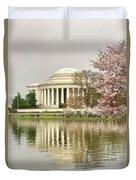 Jefferson Memorial Reflection I Duvet Cover