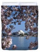 Jefferson Memorial On The Tidal Basin Ds051 Duvet Cover by Gerry Gantt