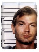 Jeffrey Dahmer Mug Shot 1991 Square  Duvet Cover