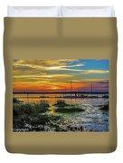 Jekyl Island Sunset Duvet Cover