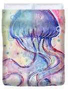 Jelly Fish Watercolor Duvet Cover