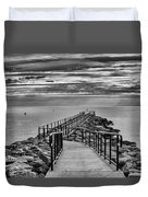 Jennings Beach Dock Duvet Cover
