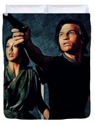 Jenny Agutter And Michael York, Logan's Run Duvet Cover