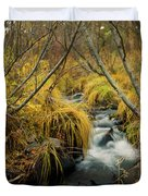 Jenny Creek In Autumn Duvet Cover