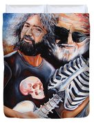 Jerry Garcia And The Grateful Dead Duvet Cover