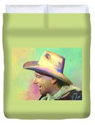 Jerry Jeff The Gypsy Songman Duvet Cover