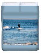 Jersey Shore Surfer Duvet Cover