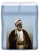 Jerusalem - Sheik Of Palestinian Village Duvet Cover
