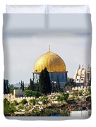 Jerusalem Dome Of The Rock  Duvet Cover