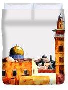 Jerusalem Domes And Minarets Duvet Cover