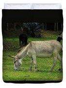 Jerusalem Donkey Grazing In A Field Duvet Cover