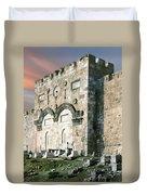 Jerusalem Golden Gate  Duvet Cover