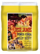 Jesse James 1939 Duvet Cover