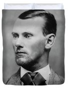 Jesse James -- American Outlaw Duvet Cover