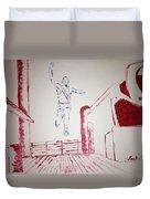 Jesse Owens Duvet Cover
