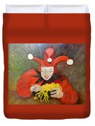 Jester And Spaghetti Duvet Cover