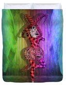 Jester Rainbow Girl  Duvet Cover