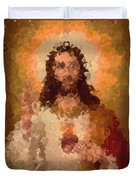 Jesus Abstract Duvet Cover