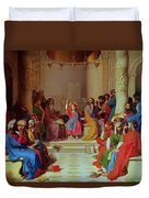 Jesus Among The Doctors Duvet Cover
