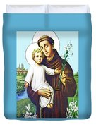 Jesus And Saint Anthony Duvet Cover