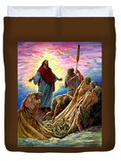 Jesus Appears To The Fishermen Duvet Cover