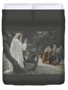 Jesus Appears To The Holy Women Duvet Cover