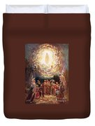 Jesus Ascending Into Heaven Duvet Cover by William Brassey Hole