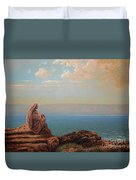 Jesus By The Sea Duvet Cover