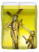 Jesus Carries The Cross Duvet Cover