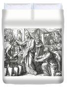 Jesus Changes Water Into Wine, Gospel Of John Duvet Cover