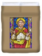Jesus Christ Stained Glass Duvet Cover
