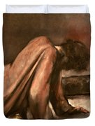 Jesus Falls The First Time Duvet Cover
