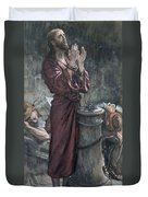 Jesus In Prison Duvet Cover