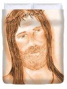 Jesus In The Light Duvet Cover