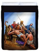 Jesus Nailed To The Cross Duvet Cover