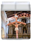 Jesus On The Cross In San Ramon, Bolivia Duvet Cover