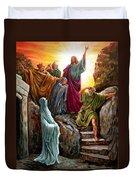 Jesus Raises Lazarus Duvet Cover