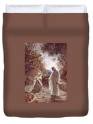 Jesus Revealing Himself To Mary Magdalene Duvet Cover by William Brassey Hole