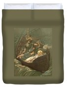 Jesus Sleeping During The Storm Duvet Cover by John Lawson