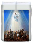 Jesus Taken Up Into Heaven Duvet Cover