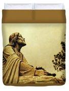 Jesus Teach Us To Pray - Christian Art Prints Duvet Cover