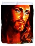 Jesus Thinking About You Duvet Cover by Pamela Johnson
