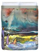 Jesus Walking On The Water Duvet Cover