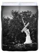 Jesus With Cross Duvet Cover