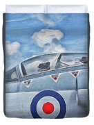 Jet Fighter By John Springfield Duvet Cover