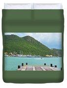 Jet Ski On The Lagoon Caribbean St Martin Duvet Cover