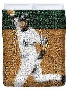 Jeter Walk-off Mosaic Duvet Cover by Paul Van Scott