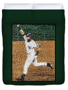 Jeter Walk-off Mosaic Duvet Cover